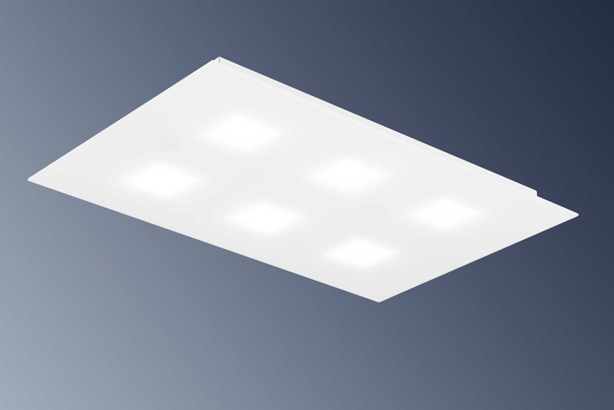 Plafoniere Led A Soffitto : Plafoniera led athena made in italy 9610 pl65